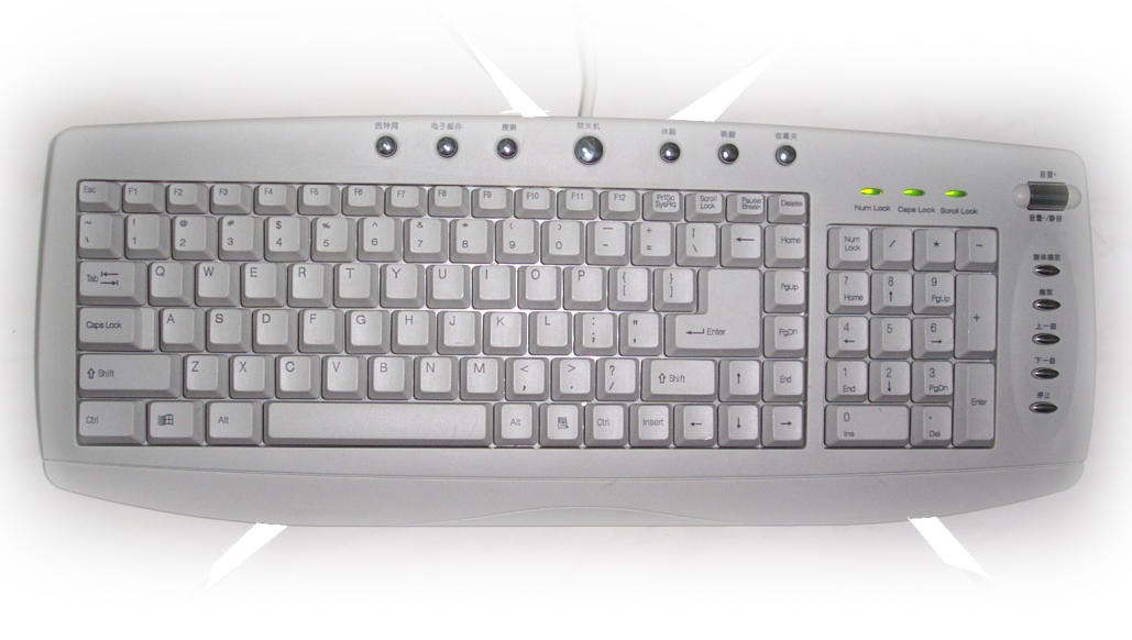 Illustration of computer keyboard Welkom